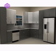 Kitchen pantry cupboards in modern kitchen style direct selling by factory
