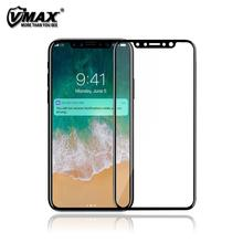 Wholesale ! Full Cover 0.33mm anti shock 3D Curved 9H Tempered glass screen protector for iPhone X