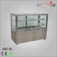 Double-temperature Style and CE Certification Countertop cake refrigerated cabinet