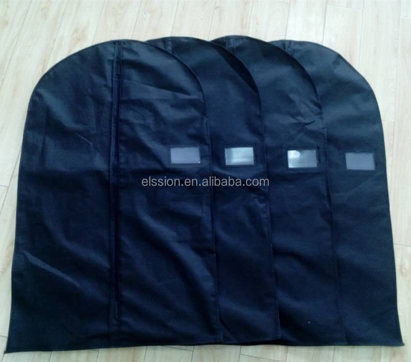 Non-woven fabrics Garment Bag Covers for Luggage, Dresses, Linens, Storage - Suit Bag with Clear Window