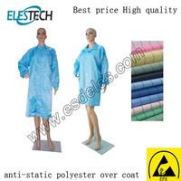 Polyester Material Anti static ESD Apron with Conductive Yarn