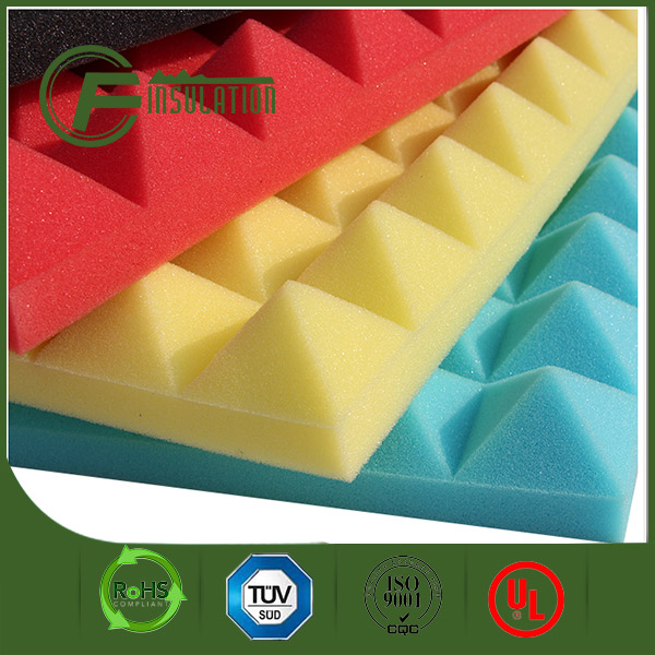 Acoustic Insulation Pyramid Shape Firproof PU Foam