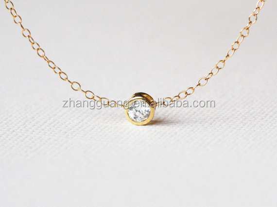 Charm Crystal Necklace, Stone Necklace, Stimple Delicae Necklace