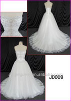 2014 guangzhou real corset back white tulle ball wedding gown/bridal dress with silver embroidery/sequin fabric JD009
