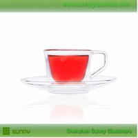 High Quality Unbreakable Double Wall Tea Glass Cup