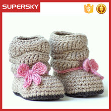 A-582 knitted new born baby shoes boots handmade toddler crochet shoes crochet baby shoes boots