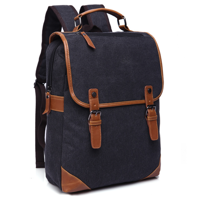Wholesale stylish custom backpack canvas factory from China , first-hand price , no middle costs