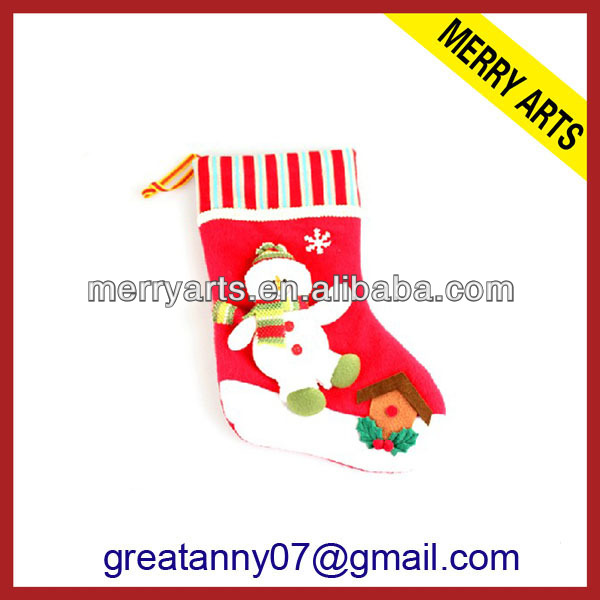 Wholesale 2013 x'mas decoration red christmas stockings cast iron christmas stocking holder sale
