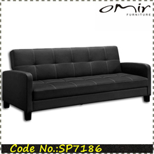 half fabric half leather sofa