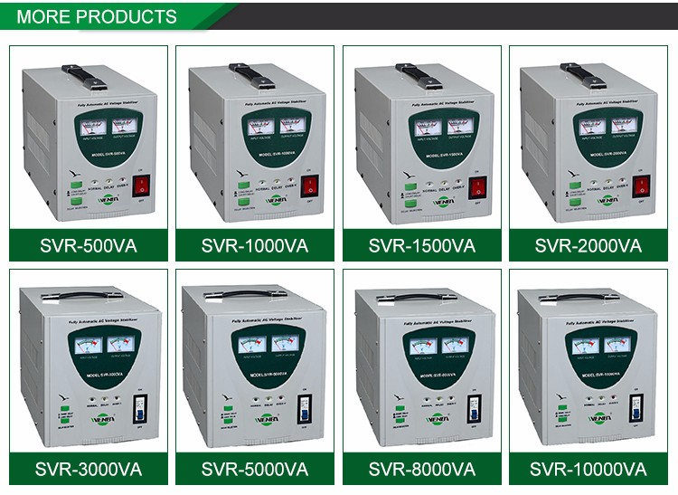 Professional Made Energy-Saving Best Price Automatic Voltage Stabilizer Avr 1500Va