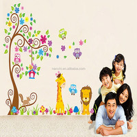 Post owls can remove PVC wall tree cute cartoon stickers a wholesale children room,2pcs Hot style popular