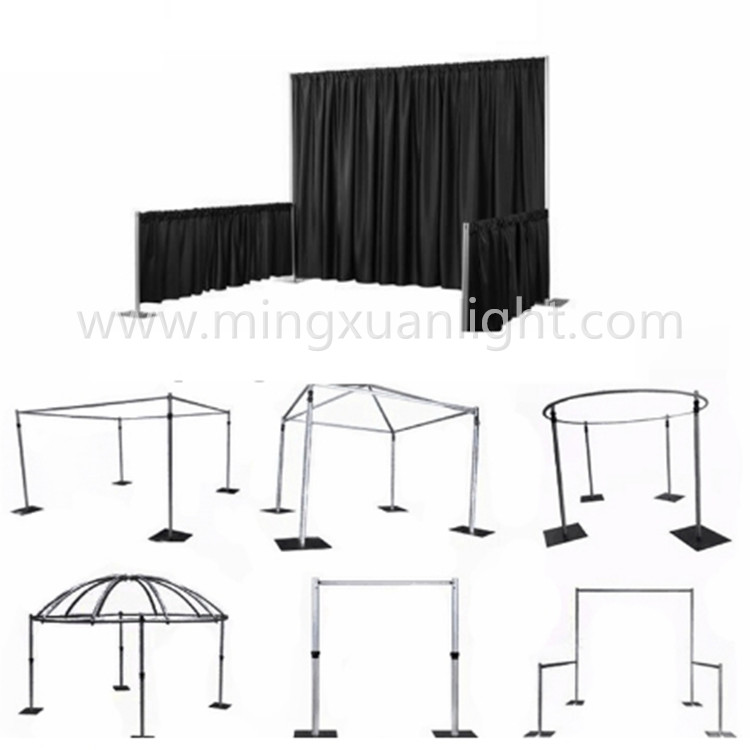 Wedding Decoration Aluminium Truss Pillars Pipe And Drape
