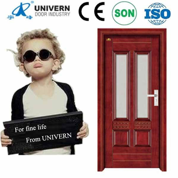 Alibaba china old wood doors for sale interior frosted glass door