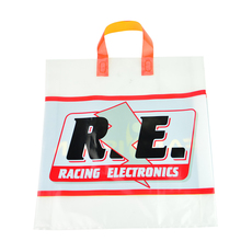 Factory pirce custom logo small ldpe resealable decorative plastic shopping bag with handle for wholesale
