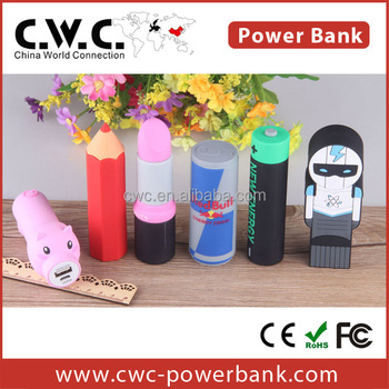 Best Gift power bank based on your own sample shape power bank 2200mah/2600mah capacity available