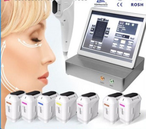 New generation USA catridge technology hifu ultrasound skin tightening hifu ultrasound machine with 7 catridges