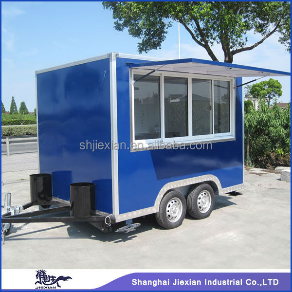 2014 Shanghai Jiexian JX-FS300 Newstyle!!!Fibreglass Stainless steel Food Van Food cart