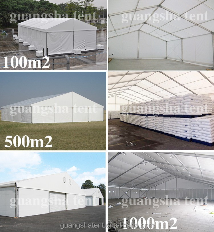 20*50m clear span the whole aluminum alloy structure warehouse tent pvc rent
