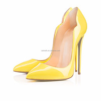 Manufacturer leather women shoes seper high heels sexy double side cut out style custom dress shoes