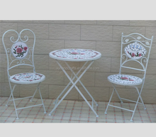 Metal mosaic folding table and chairs garden sets(XY12350)