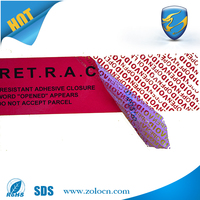Low Residue VOID Polyester Tamper evident security labels