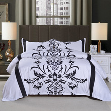 Factory wholesale in stock aulic decorative pattern print bed sheet set bedding set