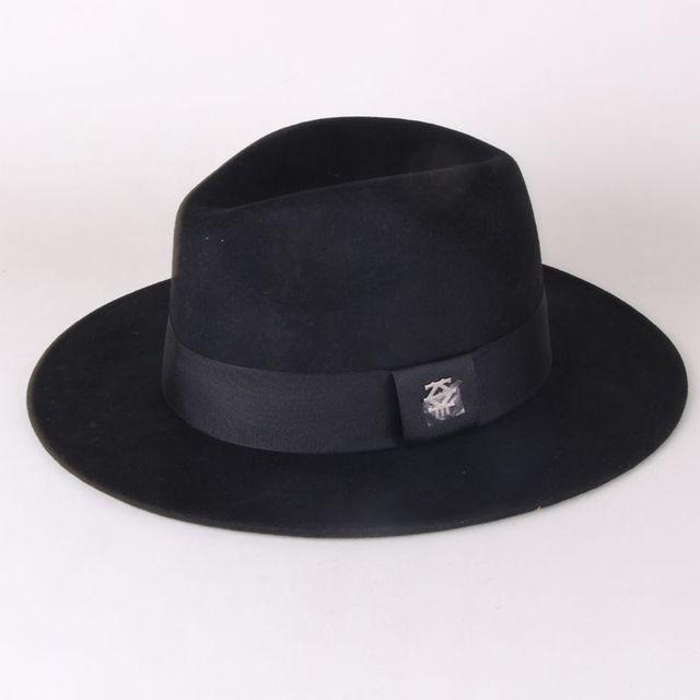 Men's fashion 100% wool felt fedora hat many colors available