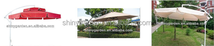 patio umbrella polyester Febric Outdoor Banana Hanging Umbrella side pole umbrella