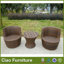 bottle shape wicker patio furniture/outdoor coffee set/small table with chair