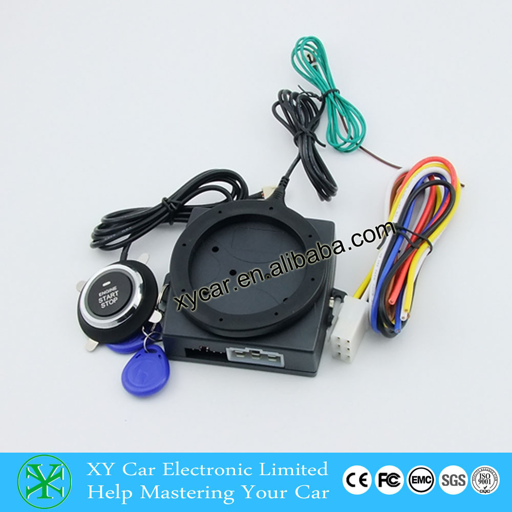 Sales Promotion RFID Alarm With Push Start Button And Transponder Immobilizer System Car Engine Start Stop XY-902