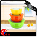 3pcs high quality stainless steel mixing bowl food container set with lids