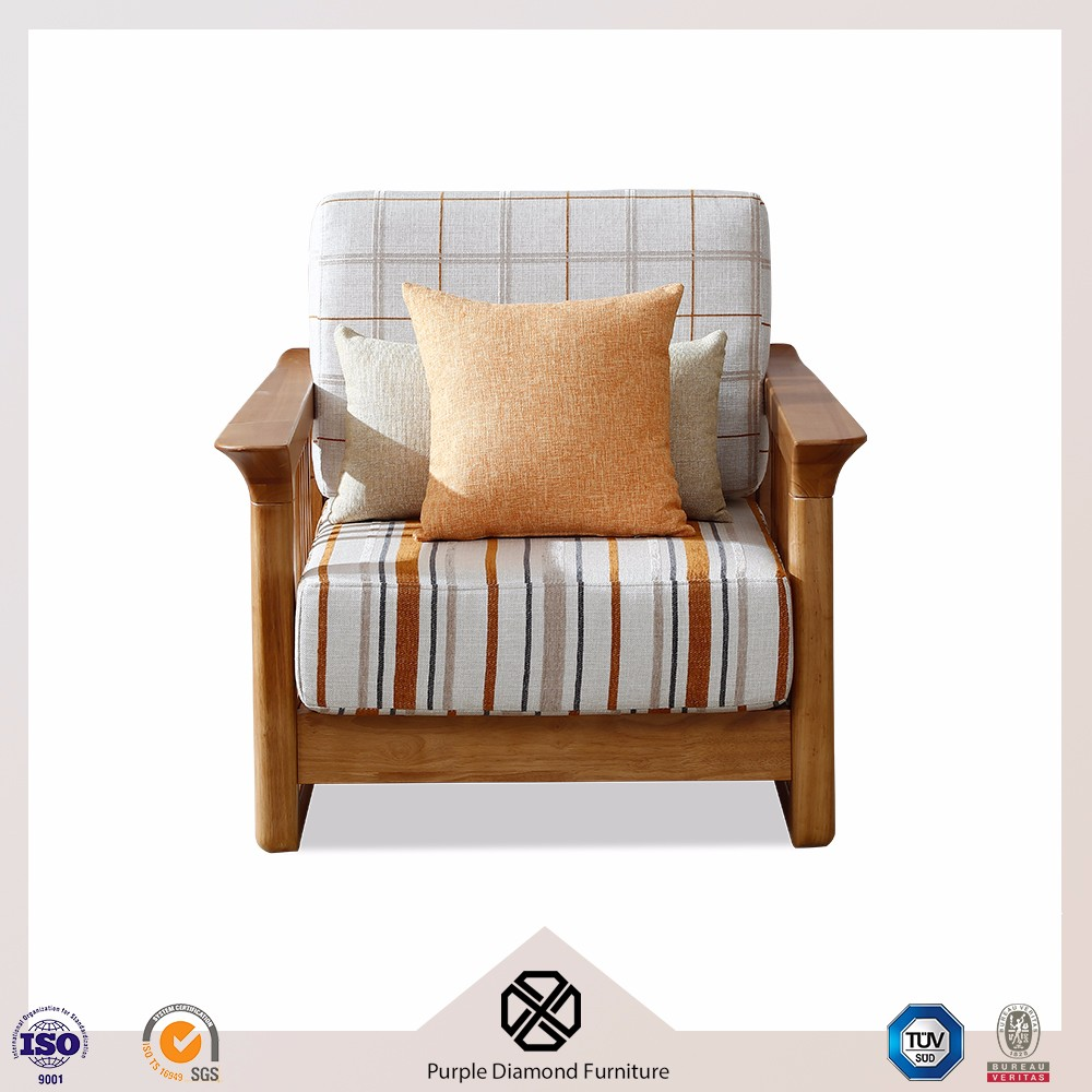 European fabric sofa chair wooded sofa designs of single seater sofa