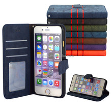 Luxury Magnetic Flip Cover Stand Wallet Leather Case For Apple iPhone 6 6S PLUS