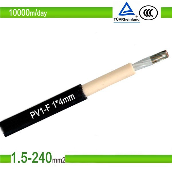 TUV and UL Approved Single Core Red Solar PV Connector Cable and XLPE Insulation Material