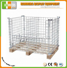 Foldable stacking steel wire container for storage