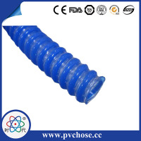 Heat resistant high stretch steel spiral braided PU ventilation air hose