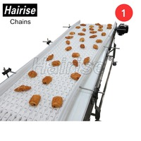 Hairise customized plastic slat band top chain straight running belt conveyor design pdf system