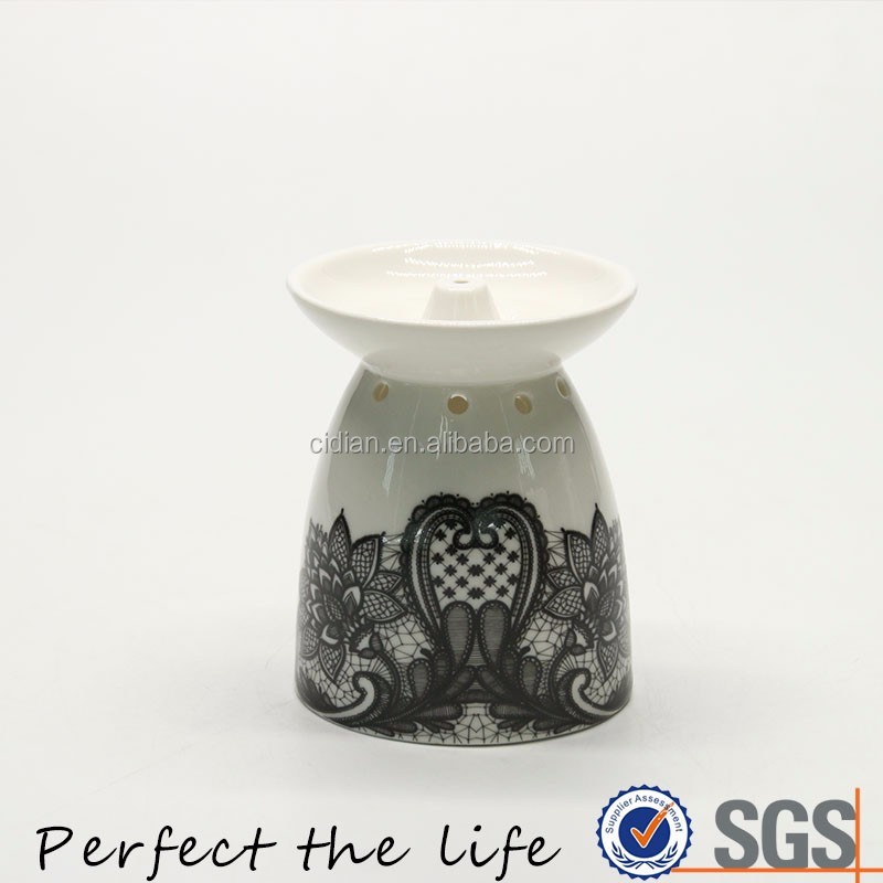 Ceramic Fragrance Nightlight Candle Melt Aroma For Balcony Patio Porch