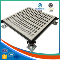 HC/T Ventilation perforated hollow steel anti-static aluminum honeycomb raised computer floor