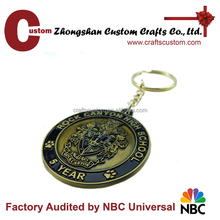 Custom turbo keyring,trolley coin keyring,detachable keyring