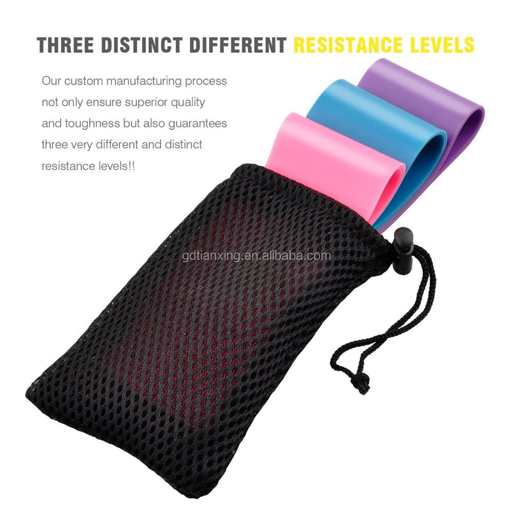 Resistance Loop Exercise Bands Set of 5 Fitness Workouts Stretching Therapy