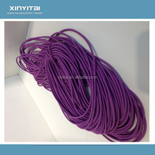 Eco-friendly polyester elastic drawstring cord with imported rubber