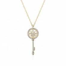 silver 925 pearl jewelry starburst necklace <strong>key</strong>