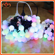 17mm 40mm Bulb Size Christmas LED Round Ball String Light with Different Colors