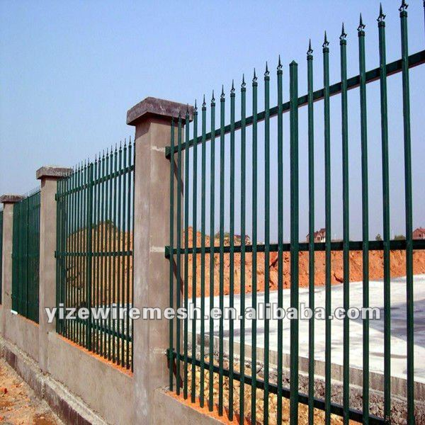 residential modern wrought iron fence for protection and decoration