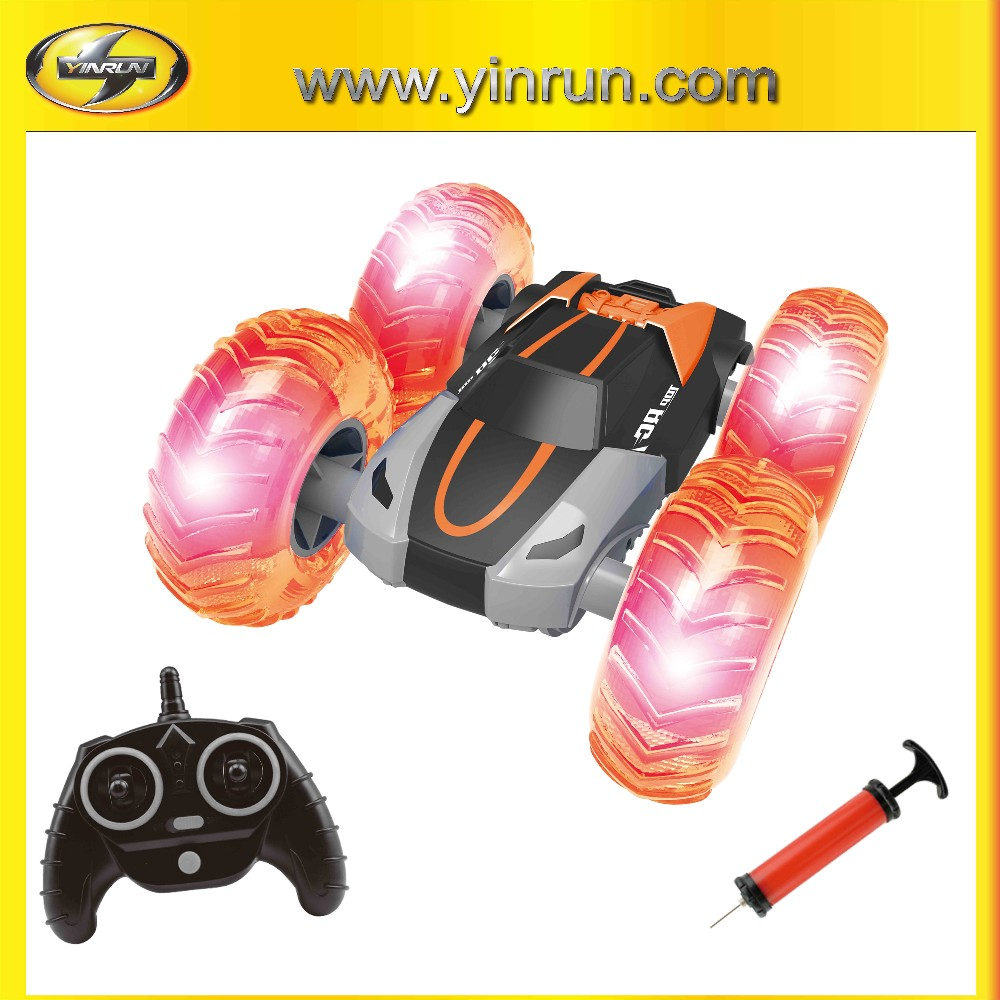 Battery Powered RC stunt Car ,with Inflatable & LED wheels