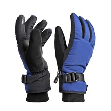 Mannen thinsulate hoofd touchscreen ski handschoenen met wrist guards