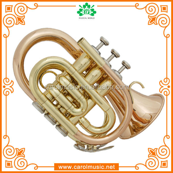 Wholesale professional pocket trumpet