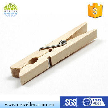 Modern design various size cheap wood clothspin with CE&ISO&FDA approved