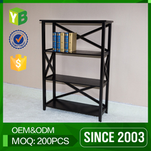 Yibang Green Product Sgs Certified Mdf Tall Wood Carved Bookcase And Specification